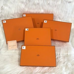 Authentic HERMES Boxes! - Set of 5 - Various Sizes